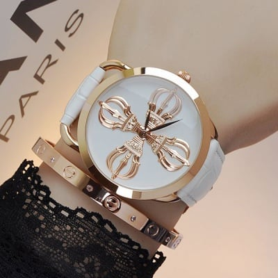 Луксозен дамски часовник H043