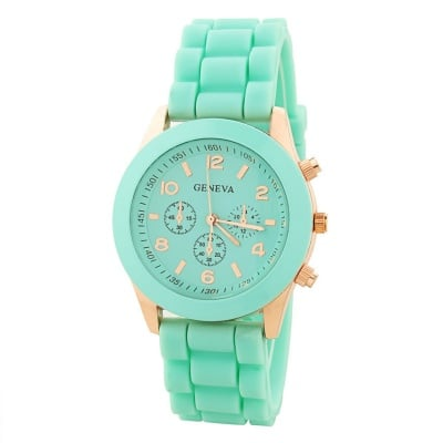Силиконов часовник Green