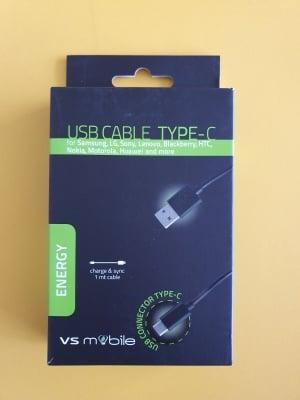 Кабел VS MOBILE-USB-A към USB-C ,дължина 1м (W1MMC)