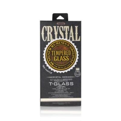 Комплект стъклен протектор + силиконов гръб Crystal за iPhone X-Черен