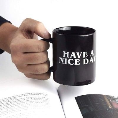 Забавна керамична чаша Приятен ден