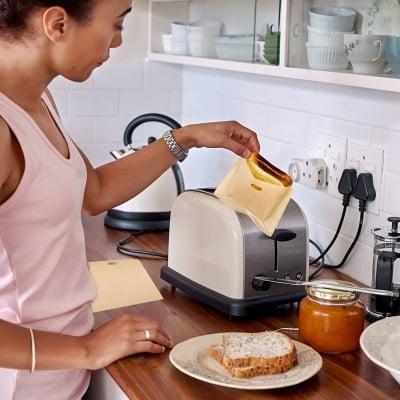 Термоустойчиви торбички за приготвяне на сандвичи