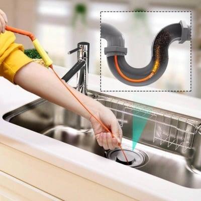 Уред за почистване на канала от косми