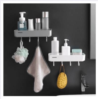 Правоъгълна стенна етажерка за баня