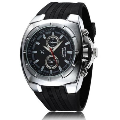 Луксозен мъжки часовник H003 Silver
