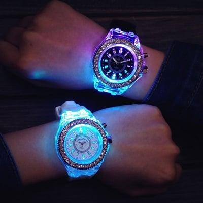 Светещ силиконов часовник Disco