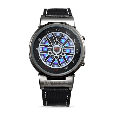 Луксозен мъжки led часовник H048