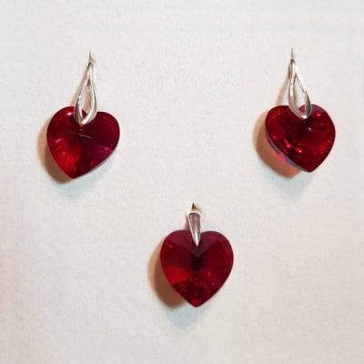 The Red Heart Комплект обеци и висулка