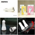Зарядно устройство Remax Dolphin 2.4А / 2x Lighting and Micro USB изхода / бял
