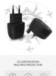 Мрежово зарядно устройство Remax Flinc / 220-240V / 2.1A / Универсално / 2 x USB / Бял