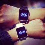 LED Силиконов часовник Square