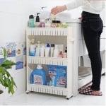 Пластмасова етажерка за баня