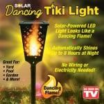 Соларна LED лампа тип пламък