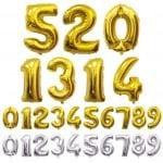 Балони числа от 0 до 9