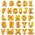 Балони букви от А до Z