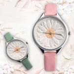Дамски кожен часовник Flower