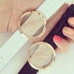 Дамски кожен часовник H025 GOLD