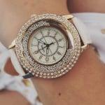 Дамски кожен часовник Pearls