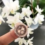Часовник пръстен с кристали Brown