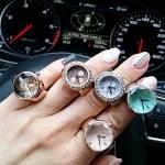 Луксозен дамски часовник Пръстен