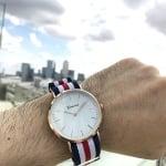 Стилен унисекс часовник Stripe